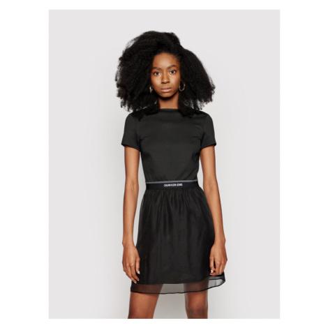 Calvin Klein Jeans Sukienka codzienna J20J215692 Czarny Regular Fit