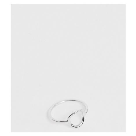 ASOS DESIGN Sterling silver open circle ring