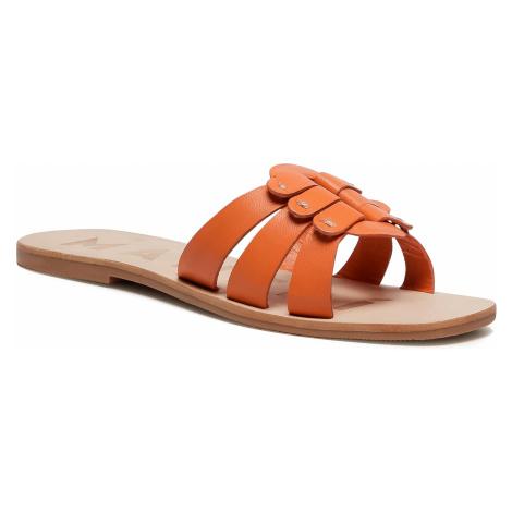 Klapki MANEBI - Sandals S 5.3 Y0 O Buckle Orange