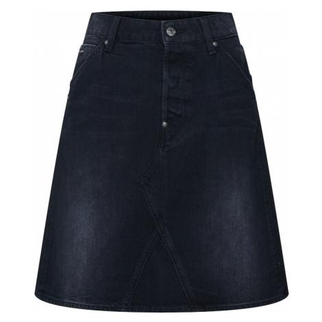 G-Star RAW Spódnica czarny denim