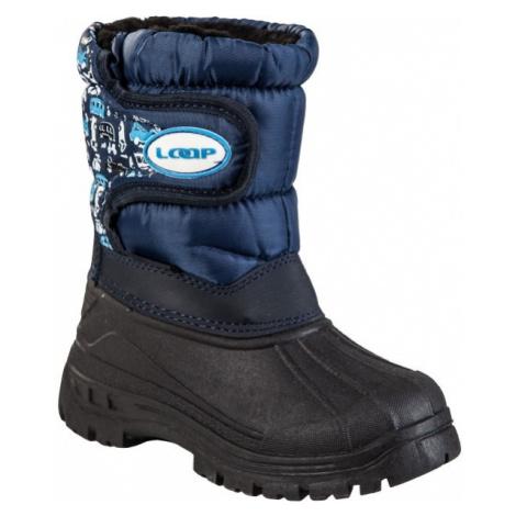 Loap JERRY niebieski 24 - Buty zimowe dziecięce