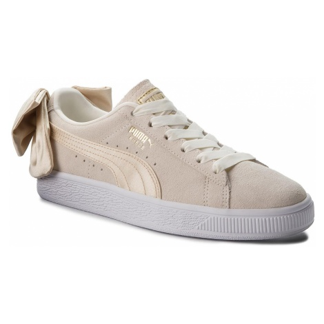 Sneakersy PUMA - Suede Bow Varsity Wn's 367732 03 Marshmallow/Metallic Gold