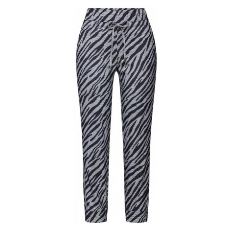 STREET ONE Spodnie 'Bonny' gołąbkowo niebieski / czarny / biały