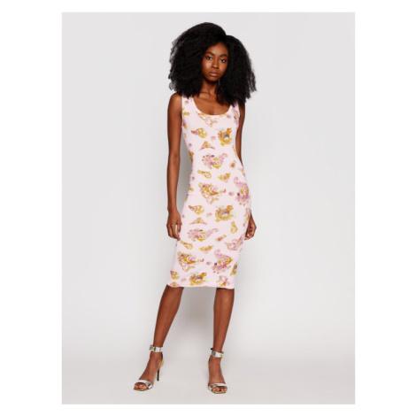 Versace Jeans Couture Sukienka codzienna D2HWA409 Różowy Slim Fit