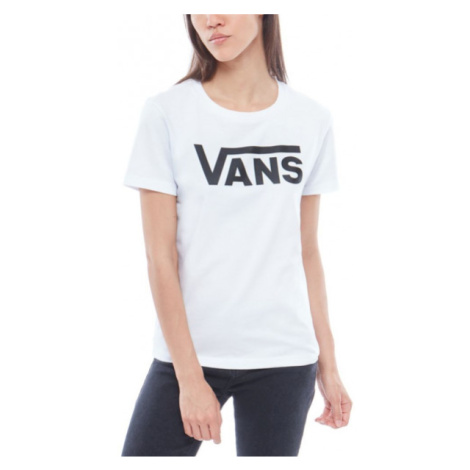 Vans WM FLYING V CREW TEE biały L - Koszulka damska