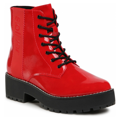 Botki S.OLIVER - 5-25221-25 Red Patent 504