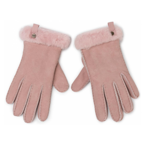 Rękawiczki UGG - W Shorty Glove W Leather Trim 17367 Pink Crystal