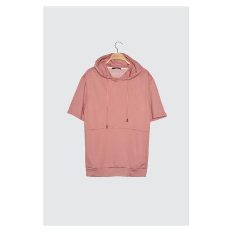 Bluza z kapturem Trendyol Rose Dry Men's Regular Fit z krótkim rękawem