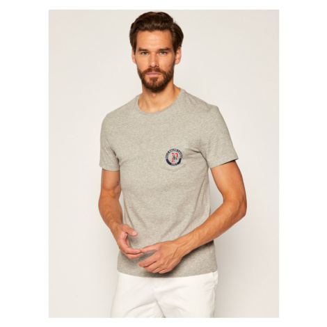 Polo Ralph Lauren T-Shirt Classics 710796094 Szary Custom Slim Fit