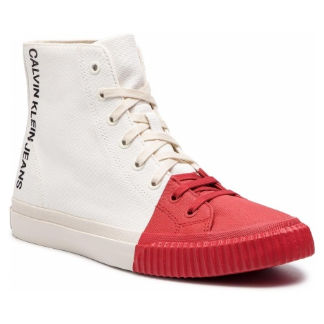 Sneakersy CALVIN KLEIN JEANS - Ivor S0599 Bright White/Tomato