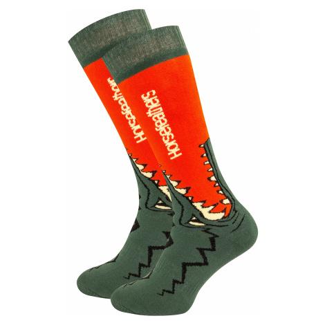 skarpetki Horsefeathers Croc - Red Orange