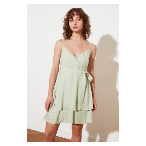 Trendyol Mint Petite Belted Dress
