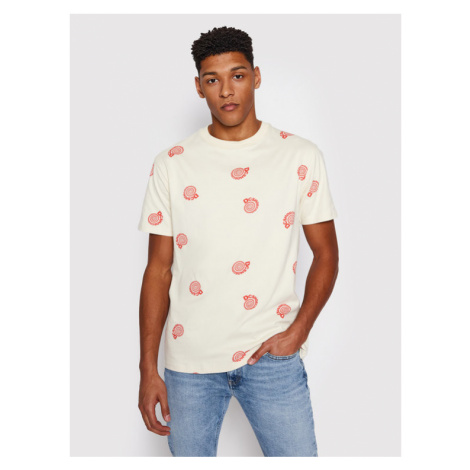 DC T-Shirt Unruly ADYKT03169 Beżowy Regular Fit