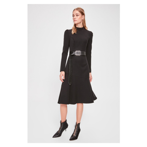 Trendyol Black Upright Collar Dress