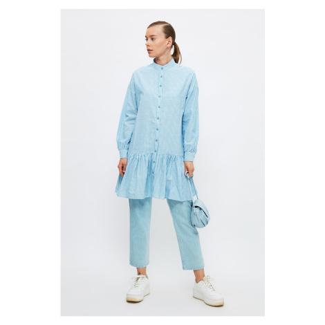 Trendyol Blue Judge Collar Tunic