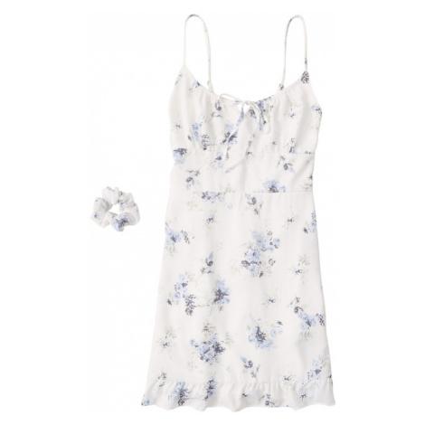 Abercrombie & Fitch Sukienka 'Pami' jasnoniebieski / biały