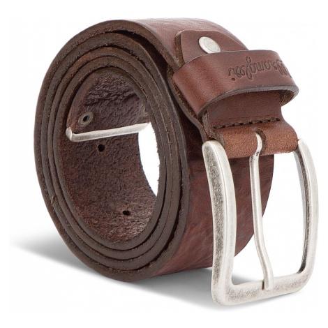 Pasek Męski WRANGLER - Metal Tip Belt W0B60U185 85 Brown