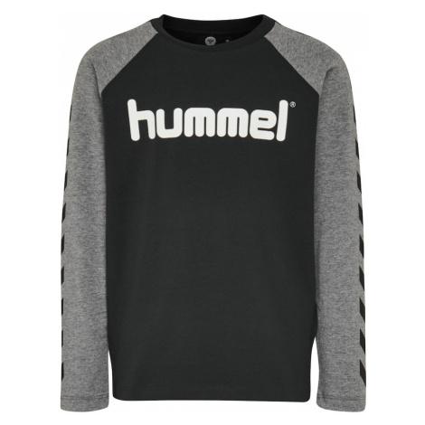 Hummel Koszulka szary / czarny / biały
