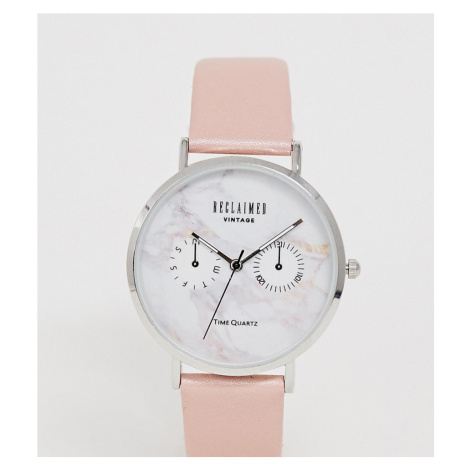 Reclaimed Vintage Inspired Marble Dial Watch In Pink Exclusive To ASOS