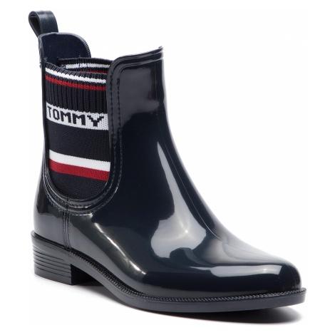 Kalosze TOMMY HILFIGER - Elastic Rain Boot FW0FW03836 Midnight 403