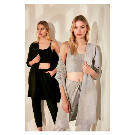 Trendyol Gray Basic Knitted Cardigan