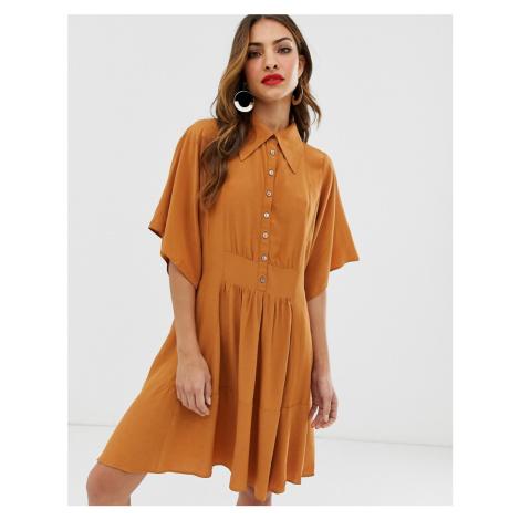 Y.A.S oversized mini shirt dress