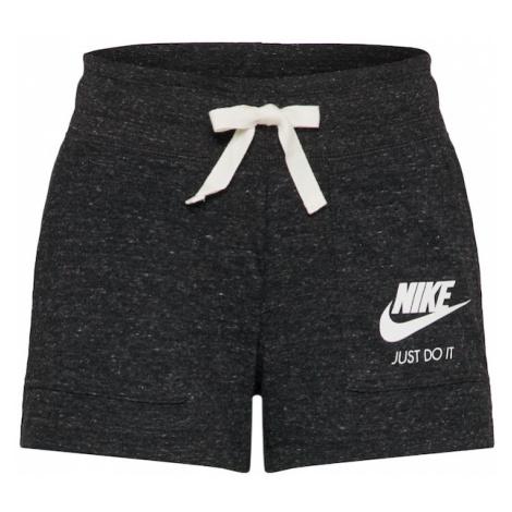 Nike Sportswear Spodnie 'Vintage' nakrapiany czarny