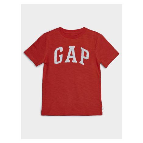 GAP czerwony chłopięce koszulka z logo