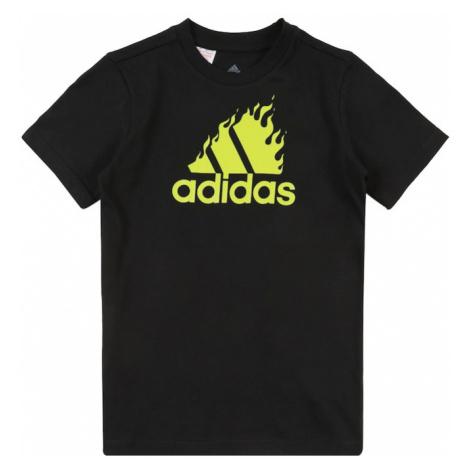 ADIDAS PERFORMANCE Koszulka funkcyjna czarny / neonowo-żółty