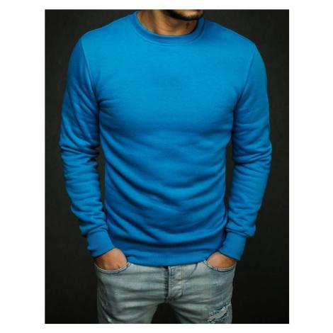 Bluza męska gładka niebieska BX4386 DStreet