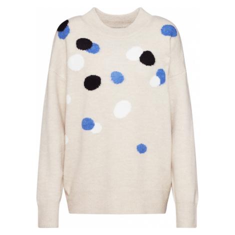 TOM TAILOR Sweter beżowy / niebieski / czarny / biały