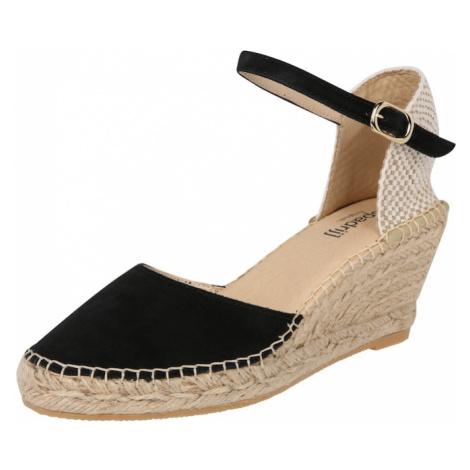Espadrij l´originale Sandały z rzemykami 'Biarritz Velour' czarny