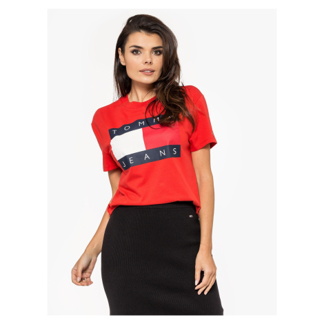 """Tommy Jeans """"Flag Tee"""" XA8 Red Tommy Hilfiger"""