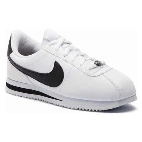 Buty NIKE - Cortez Basic Sl (GS) 904764 102 White/Black