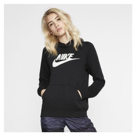 Damska dzianinowa bluza z kapturem Nike Sportswear Essential - Czerń