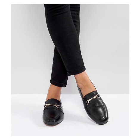ASOS DESIGN Wide Fit Movement leather loafers