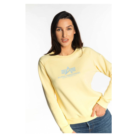 Bluza Alpha Industries New Basic Sweater Wmn 495 Pastel Yellow