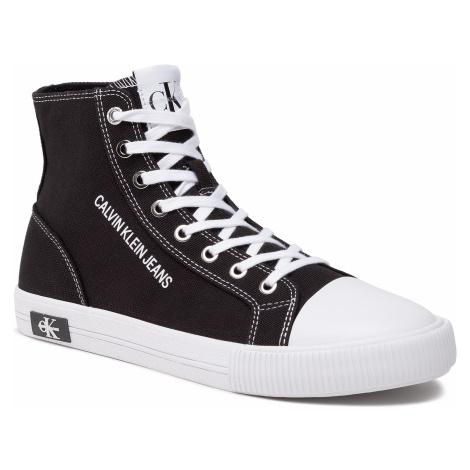 Trampki CALVIN KLEIN JEANS - Vulcanized Sneaker Highlaceup Co YM0YM00019 Black BDS