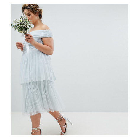 Maya Plus Premium Tulle Layered Midi Bridesmaid Skirt
