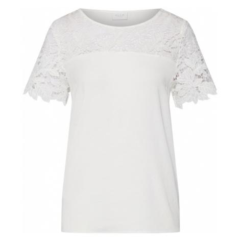 VILA Koszulka 'VIMELLI BLOCKED LACE TOP' biały