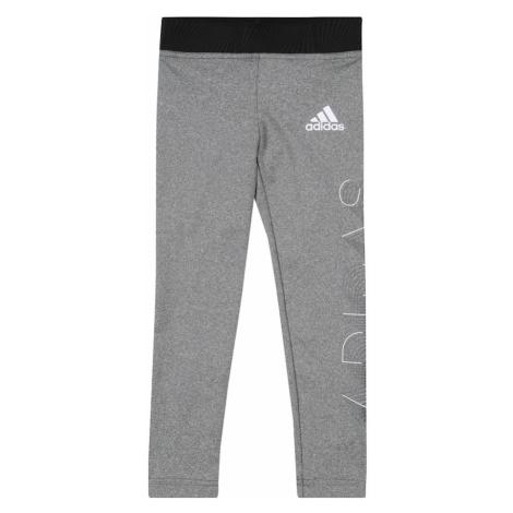 ADIDAS PERFORMANCE Spodnie sportowe biały / czarny / szary