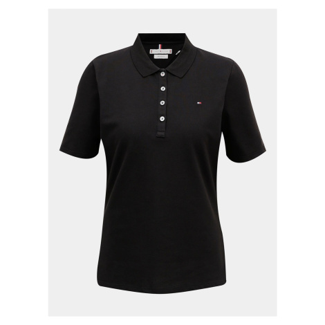 Czarna damska koszulka polo Tommy Hilfiger