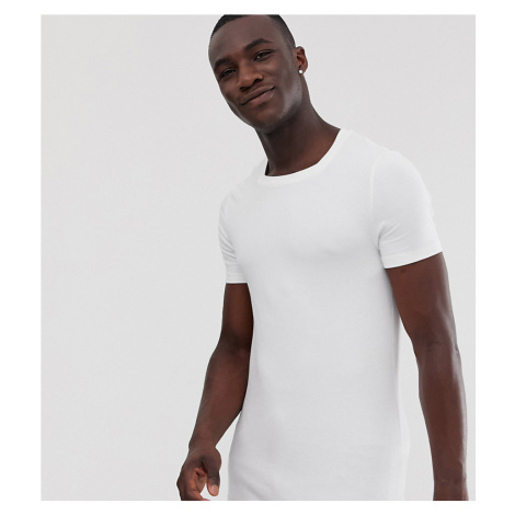 ASOS DESIGN Tall organic muscle fit t-shirt with square neck in white