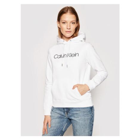 Calvin Klein Bluza Core Logo K20K202687 Biały Regular Fit