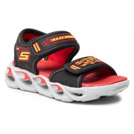 Skechers Sandały Thermo-Splash 400109L/BKRD Czarny