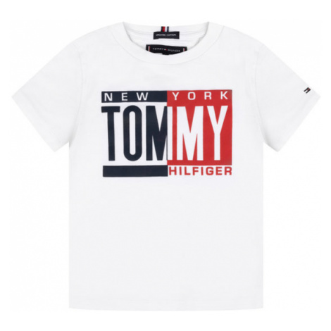 TOMMY HILFIGER T-Shirt KB0KB04994 S Biały Regular Fit