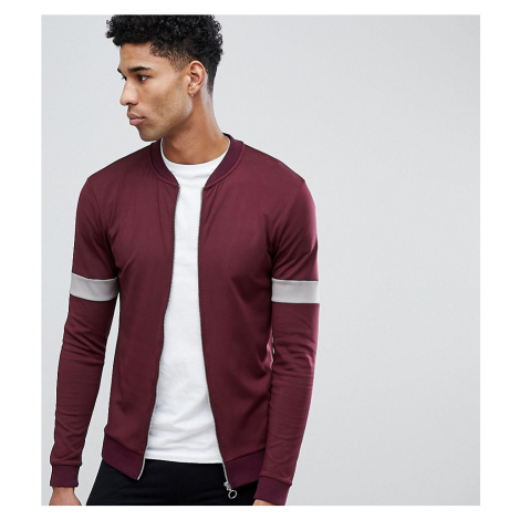 ASOS DESIGN Tall retro muscle bomber with sleeve colour blocking