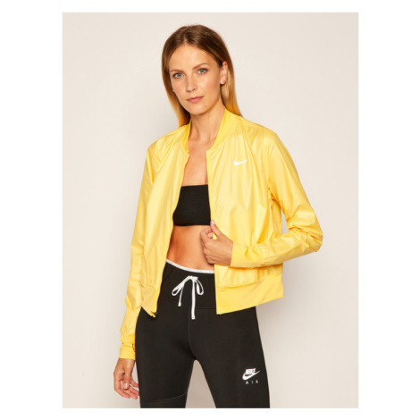 Nike Wiatrówka Swoosh Run CK0182 Żółty Standard Fit