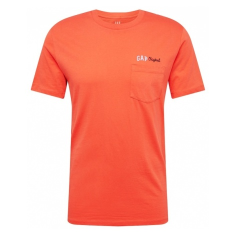 GAP Koszulka koralowy / czarny / biały