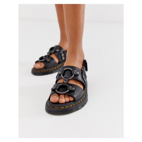 Dr Martens Xabier hardware leather sandals in black